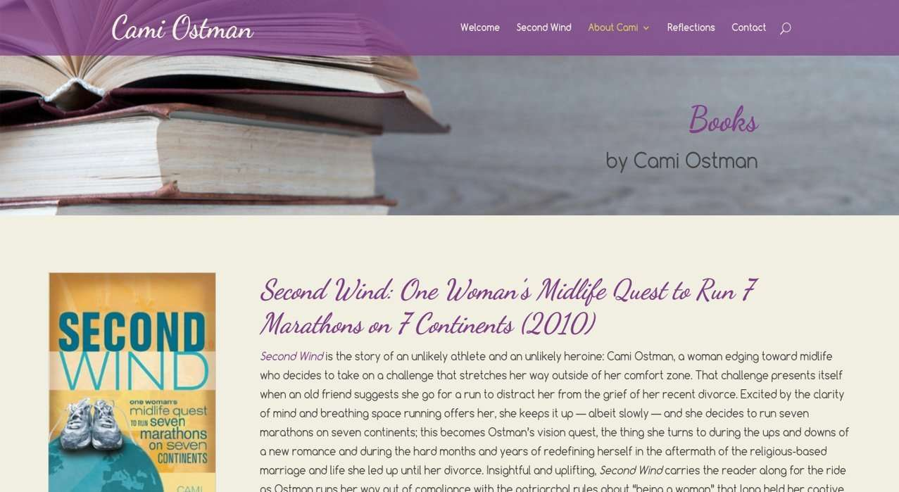 website design from Cami Ostman webpage