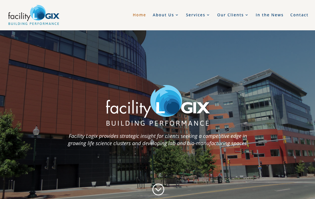 facility logix website home page screen capture