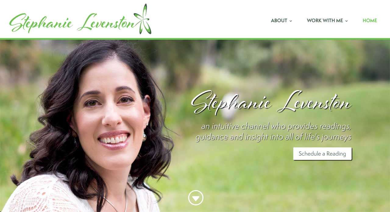 screen shot from stephanie levenston website design project