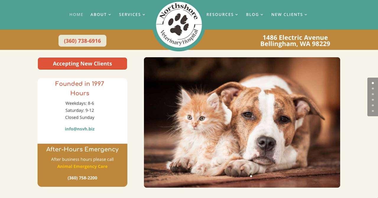 screen shot from northshore Bellingham website design project