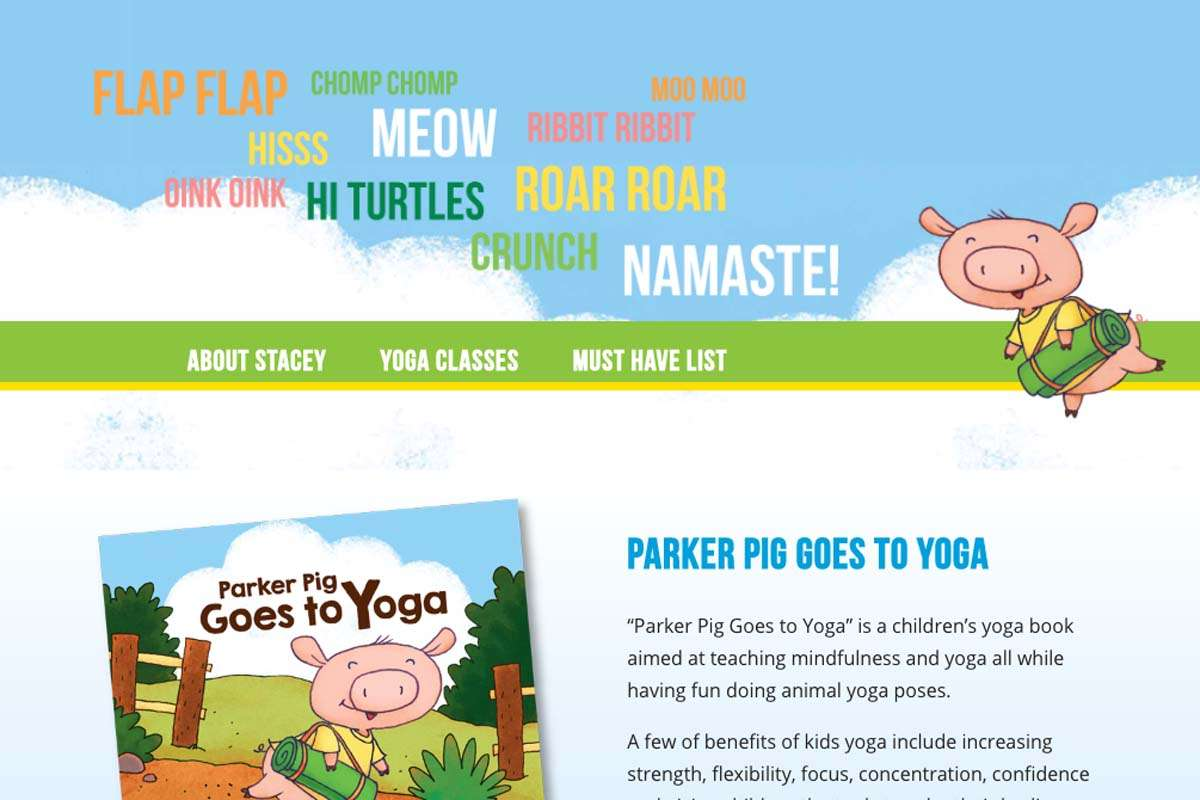 screenshot from parker pig wordpress website design