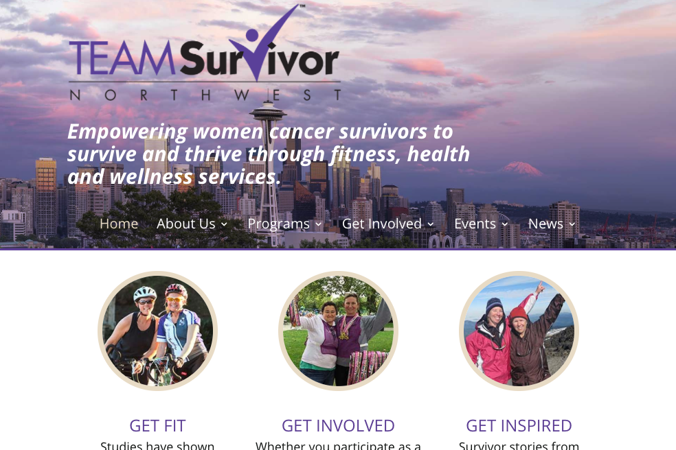 home page design for teamsurvivornw.org